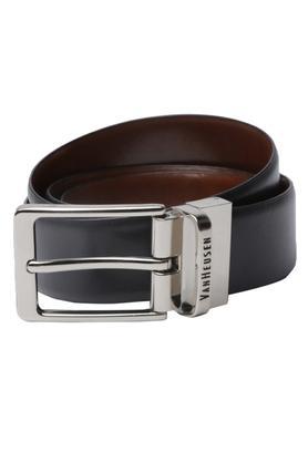 VAN HEUSENMens Leather Buckle Closure Formal Belt