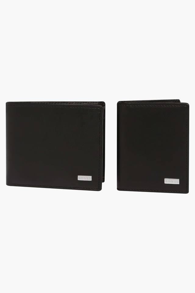 Mens leather 1 Fold Wallet and Card Holder Set