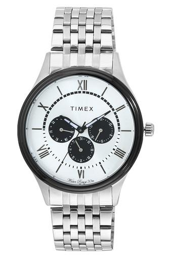 Mens White Dial Metallic Multi-Function Watch - TWEG16805