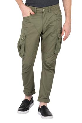 Mens 8 Pocket Solid Cargos