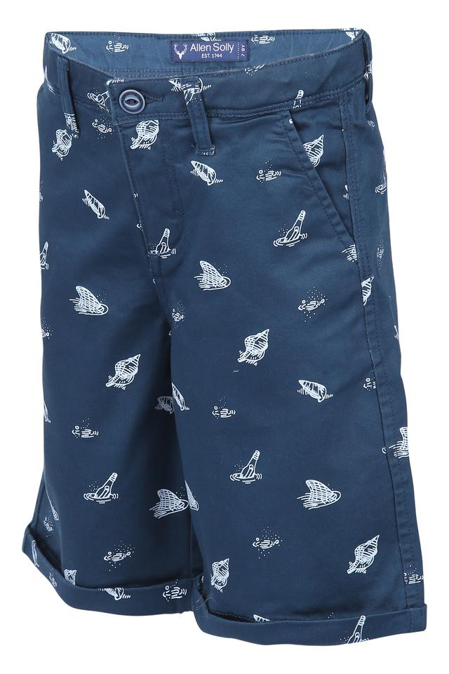 Boys 4 Pocket Printed Shorts