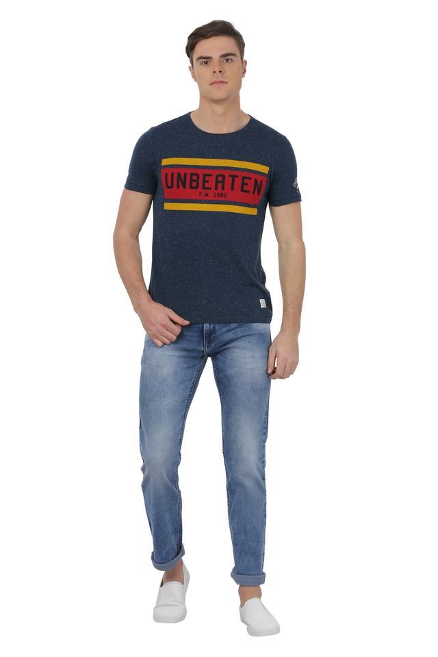 Mens 5 Pocket Mild Wash Core Jeans