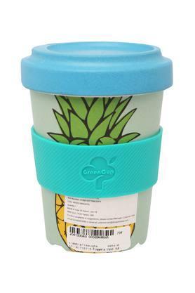 Round Pineapple Printed Travel Mug with Lid