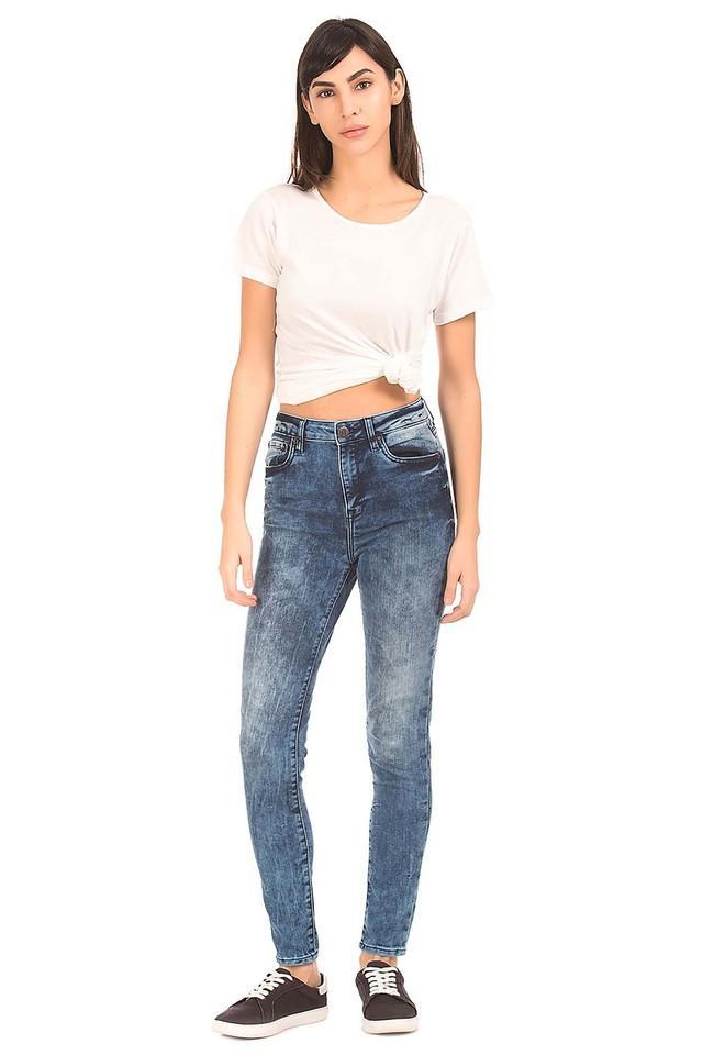 b5cc1b4f23e Buy AEROPOSTALE Womens 5 Pocket Acid Wash Jeans