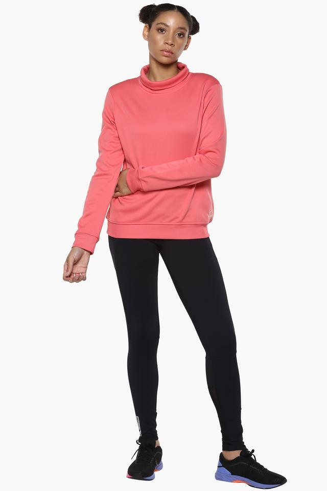 Womens Turtle Neck Solid Sweatshirt