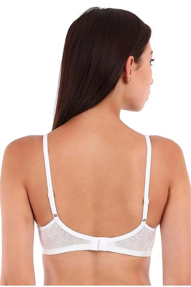 Womens Padded Non Wired Lace Bra