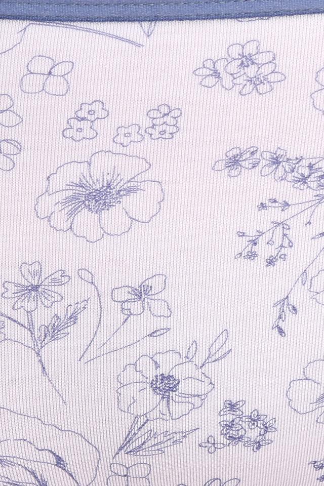 Womens Mid Waist Floral Print Hipster Briefs