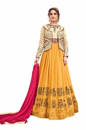 VRITIKA Womens Zari Work Anarkali Suit - 204144483_9407