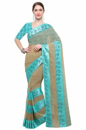 RACHNA Womens Georgette Printed Saree With Blouse - 204088374_9101