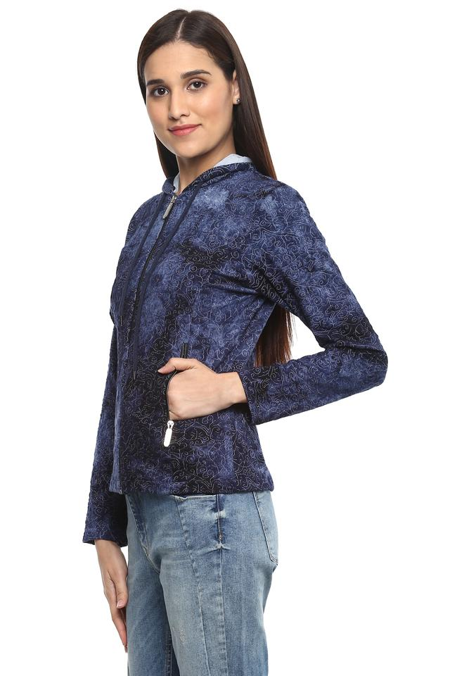 Womens Hooded Printed Jacket