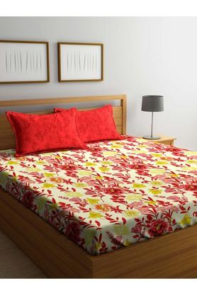 PORTICOFloral Printed Single Bed Sheet With Pillow Cover