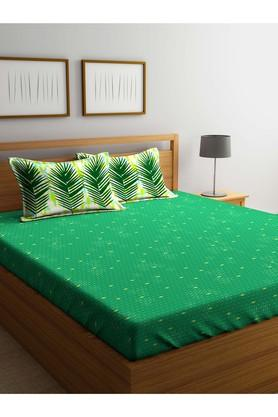 PORTICO Printed Single Bed Sheet With Pillow Cover - 203989878_9900