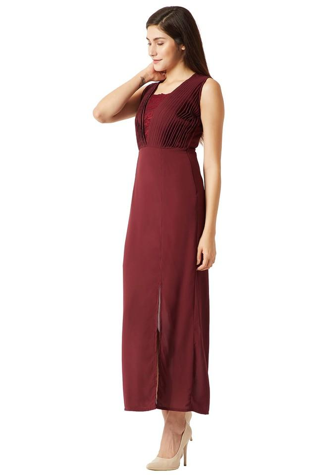 Womens Square Neck Solid Maxi Dress
