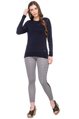 Womens Checked Treggings