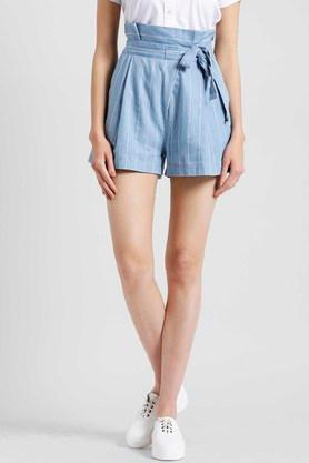 Womens Striped Shorts
