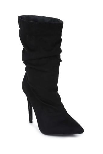 Womens Slip On Stiletto Ankle Boots
