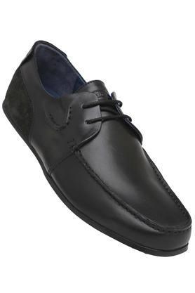 WOODLANDMens Leather Laceup Boat Shoes