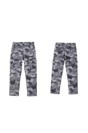Boys 6 Pocket Camouflage Cargo Pant