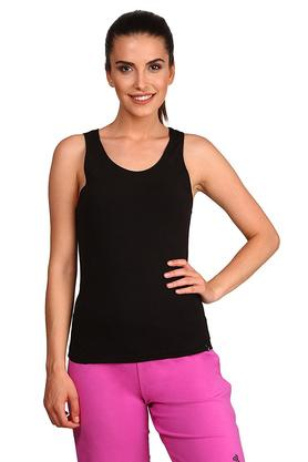 Womens Round Neck Solid Tank Top