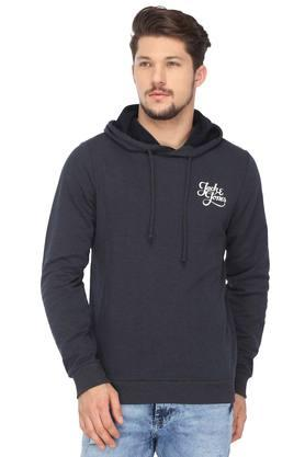 JACK AND JONES Mens Hooded Neck Slub Sweatshirt