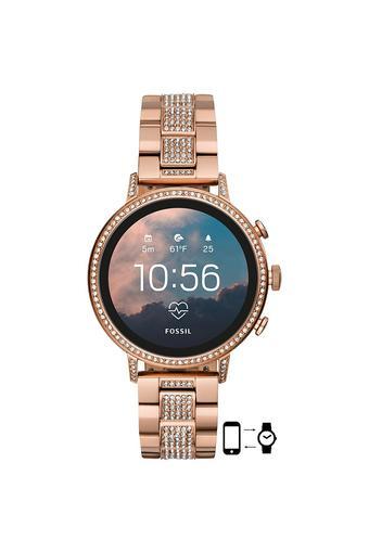 Unisex Gen 4 Q Venture HR Stainless Steel Touchscreen Smart Watch - FTW6011