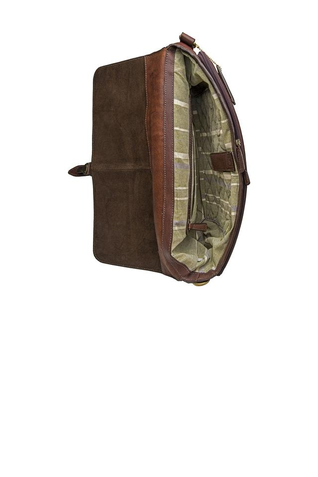 Mens Buckle Closure Messenger Bag