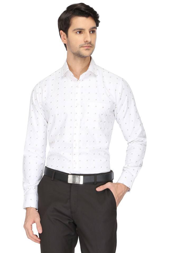 STOP - WhiteFormal Shirts - Main