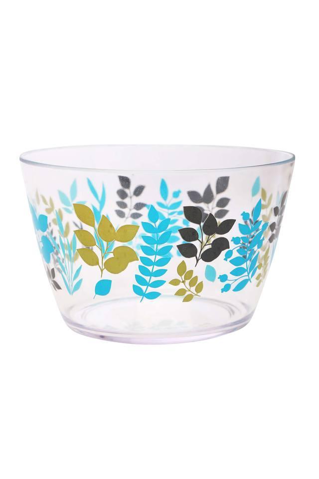 Round Foliage Printed Salad Bowl