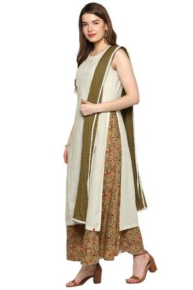 Womens Round Neck Printed Palazzo Suit