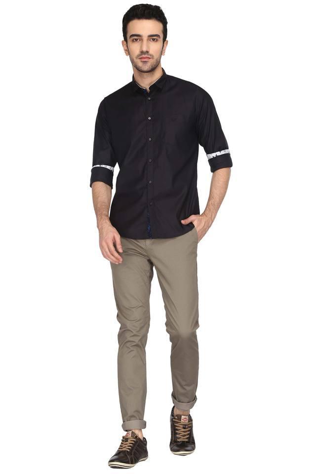 Mens 4 Pocket Textured Chinos