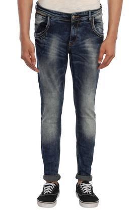 X SPYKAR Mens Skinny Fit Stone Wash Jeans
