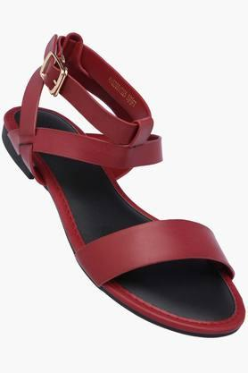 ALLEN SOLLY Womens Casual Wear Buckle Closure Flats - 202873018