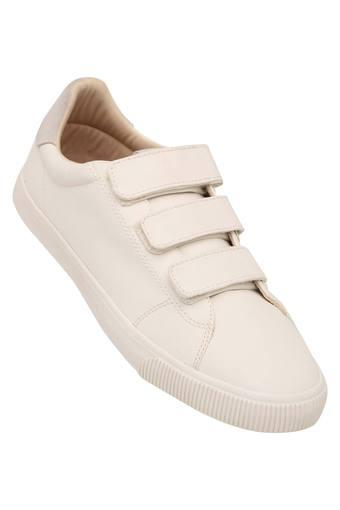 Mens Synthetic Leather Velcro Closure Casual Shoes