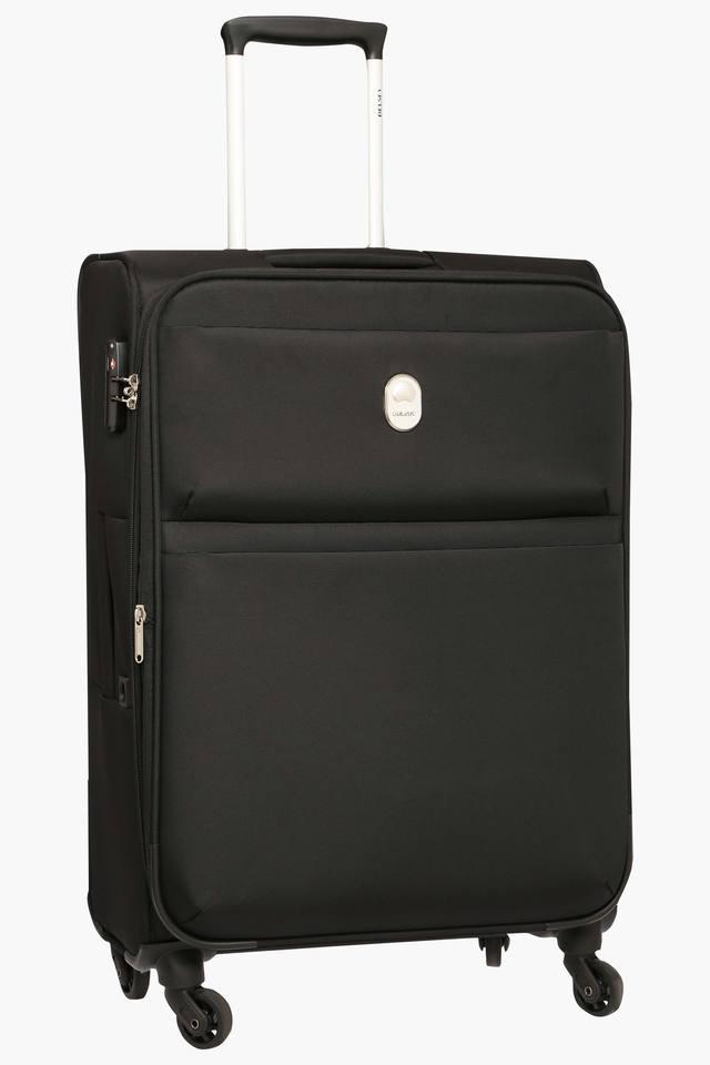 Unisex 1 Compartments Zipper Closure Soft Trolley