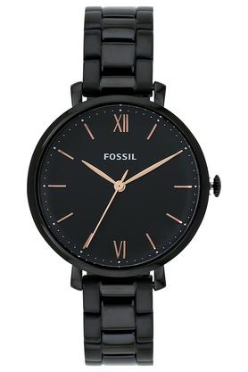 Womens Black Dial Stainless Steel Analogue Watch - FS5523I