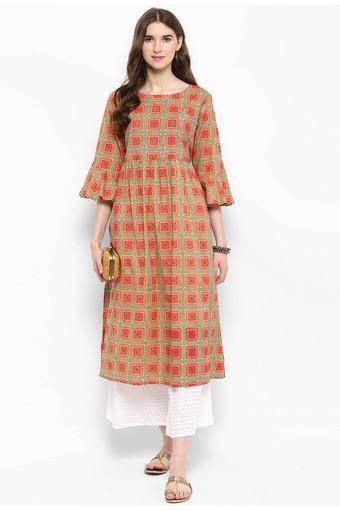 VARANGA -  KhakiSalwar & Churidar Suits - Main
