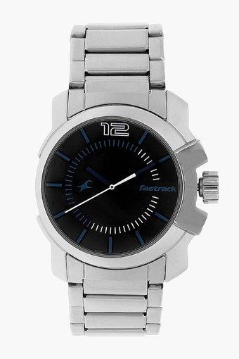 Mens Analogue Metallic Watch - NJ3097SM01C
