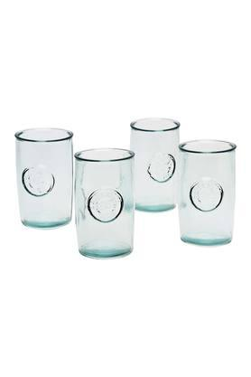 Recycled Round Embossed Glasses Set of 4