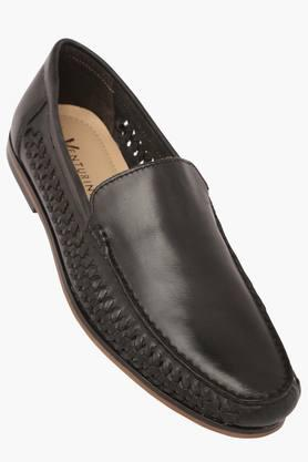 VENTURINI Mens Leather Slipon Loafers - 203381554