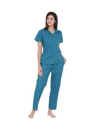 Womens Printed Top and Pyjamas Set