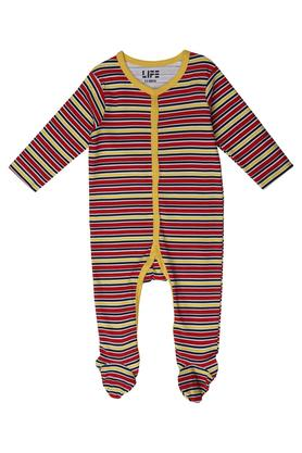 Boys Round Neck Printed and Stripe Bodysuit Pack of 2