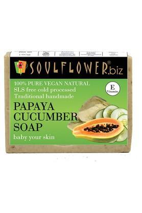 SOULFLOWERPapaya And Cucumber Handmade Soap