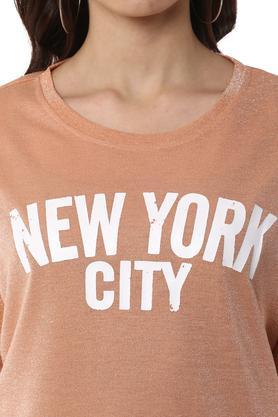 Womens Round Neck Shimmer T-Shirt
