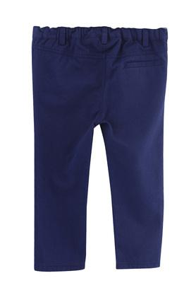 Boys 3 Pocket Solid Trousers