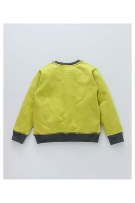 Boys Regular Fit Round Neck Solid Sweatshirt