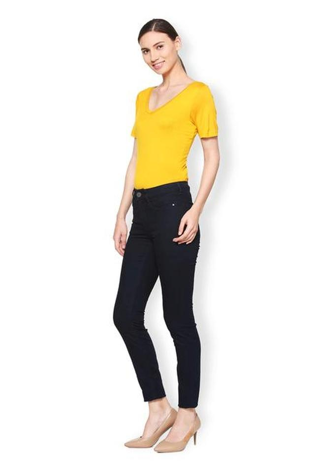 Women 5 Pockets Rinse Wash Jeans