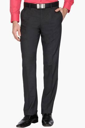 LOUIS PHILIPPE Mens 4 Pocket Slub Formal Trousers - 203054220