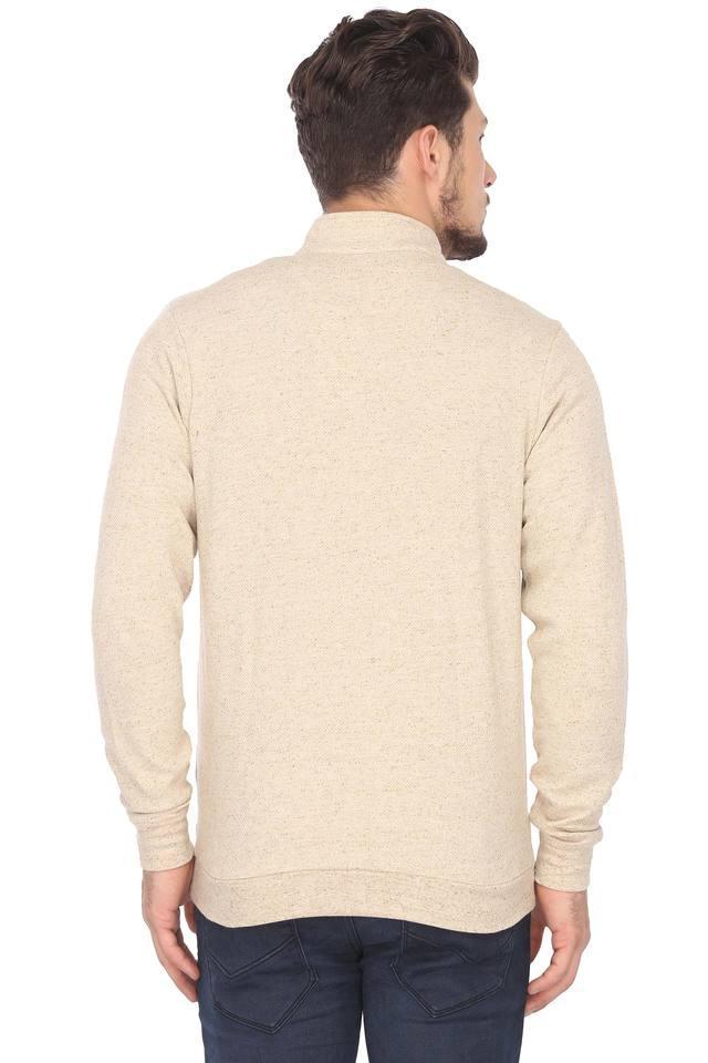 Mens High Neck Slub Sweatshirt