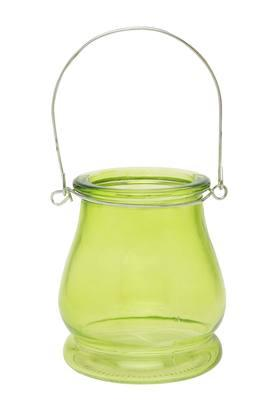 IVY Round Glass Votive With Handle