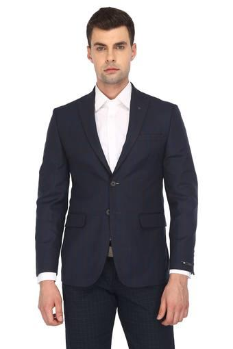 Mens Peaked Lapel Checked Blazer